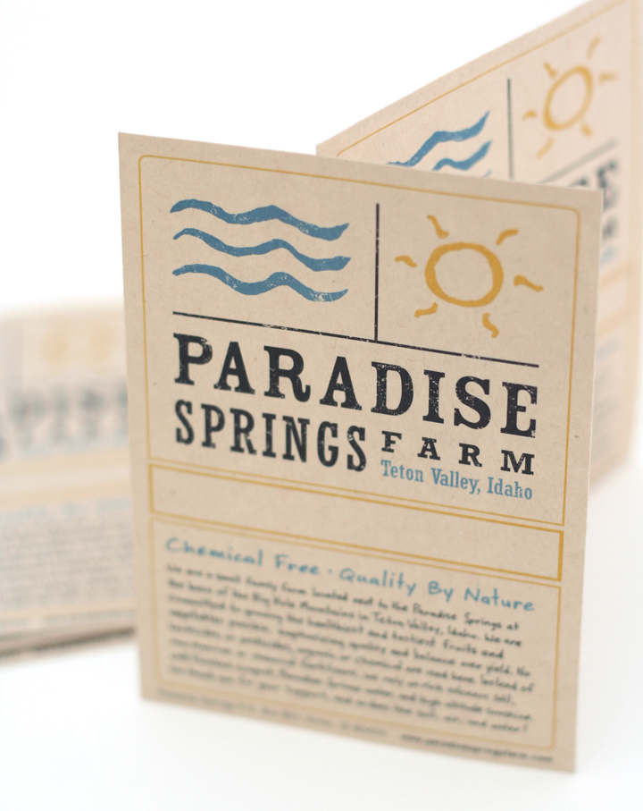 Paradise Springs Farm Label