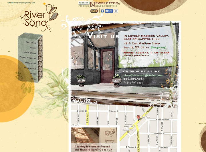 River Song Jewelry Website