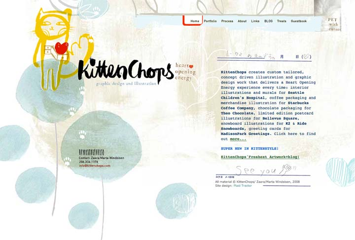 KittenChops Design & Illustration Website
