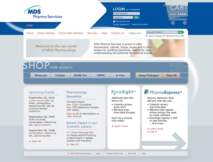MDS Pharma Website