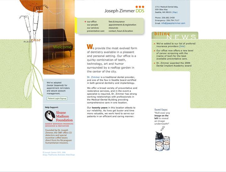 Joseph Zimmer DDS Website