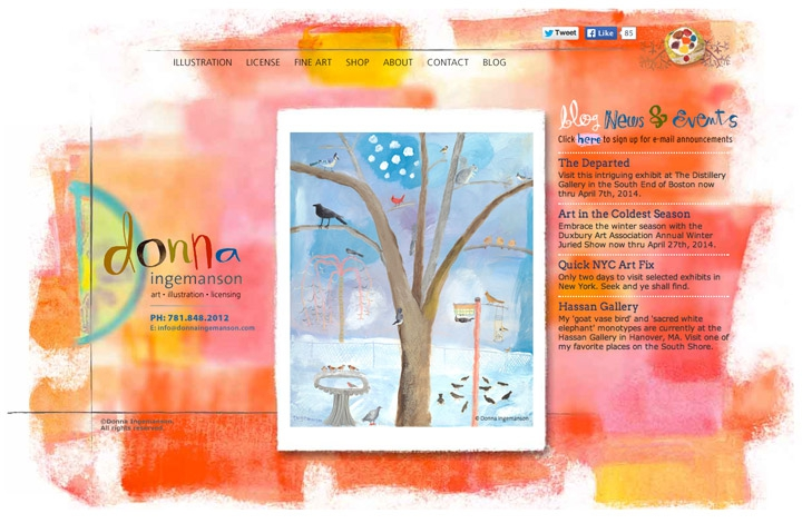 Donna Ingemanson Illustration Website