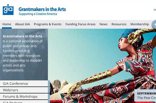 Grantmakers in the Arts Website Design
