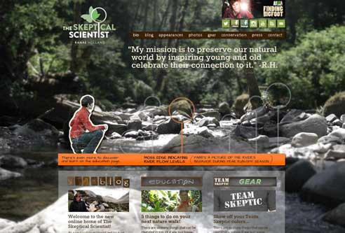 The Skeptical Scientist Website Design