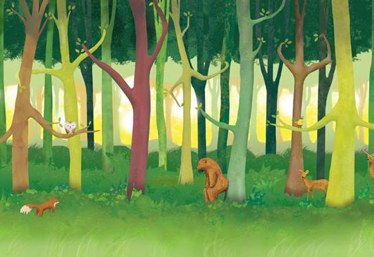 Children's Forest Triptych