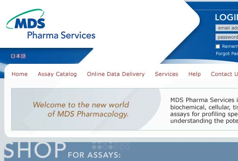 MDS Pharma Website Design