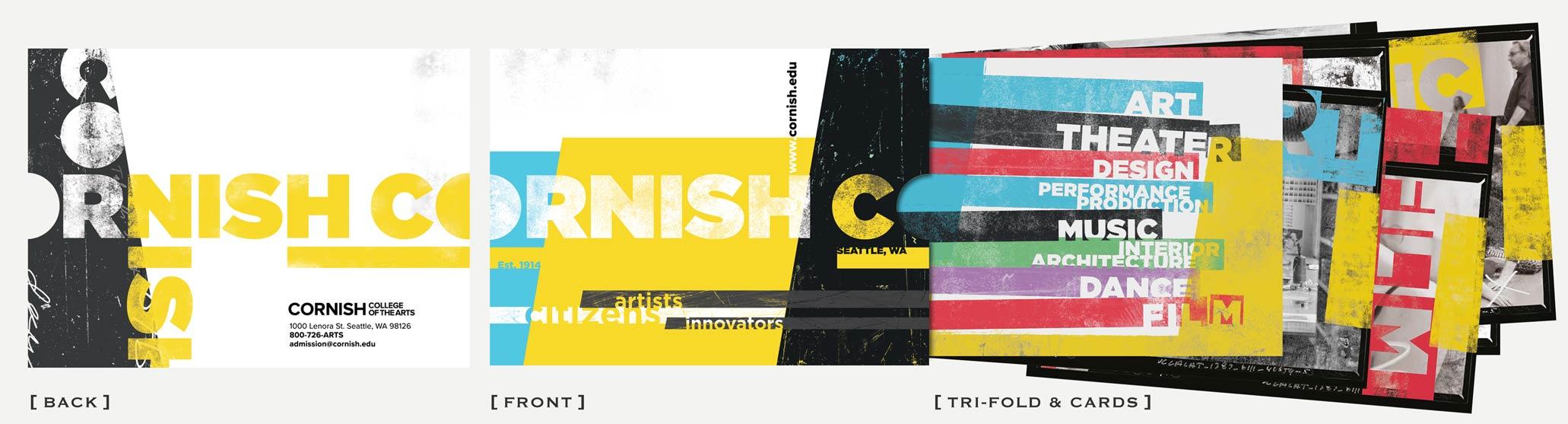 Cornish Tri-Fold Print Marketing Graphic Design Seattle